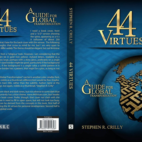 Book Cover Competition : Virtues book cover contest
