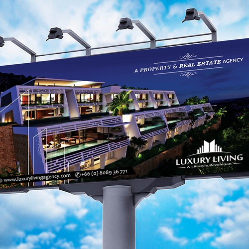 Luxury real estate company looking for A new billboard design ...