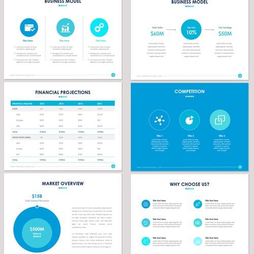 99designs Presentation Template for Startups Design by pallabip