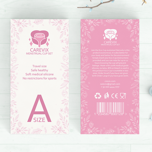 Boxpackaging Design For Womens Menstrual Cup Product Product