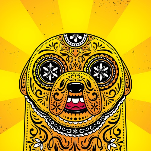 **ADVENTURE TIME SUGAR SKULL CALAVERA POSTERS!** Design by saidho