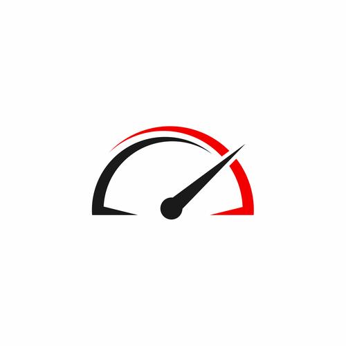 Car / vehicle logo based on tachometer.   Logo design contest Tachometer Logo