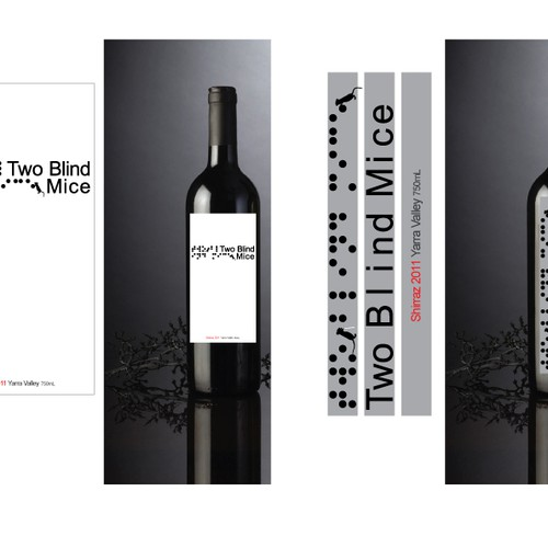 Create the next product label for Two Blind Mice Wines Design by Dizziness Design