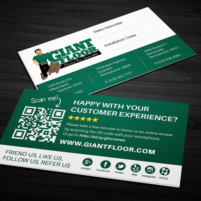 Business review card looking for unique and sophisticated design winning design by ayg design reheart