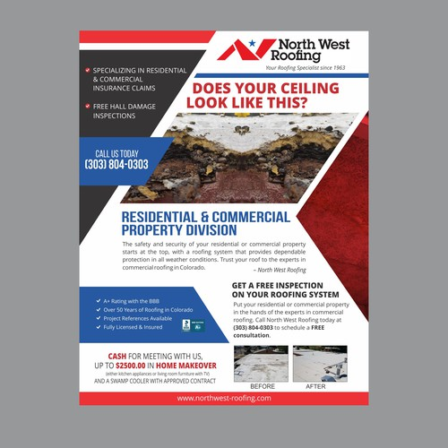 Roof Inspection Promo | Postcard, flyer or print contest
