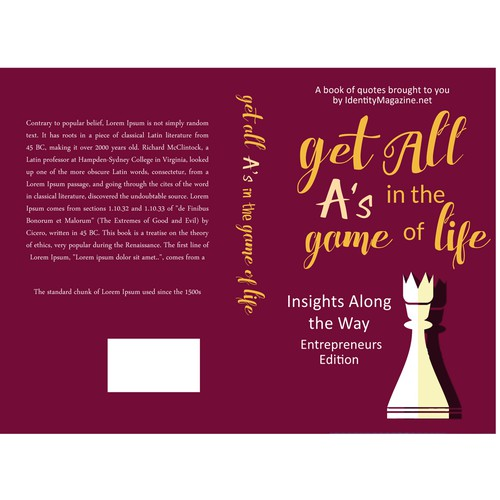 Book Cover Design Quote : Inspire women design the next big quote book cover
