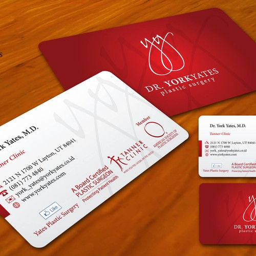 Dr york yates plastic surgery business card stationery contest runner up design by gledex reheart