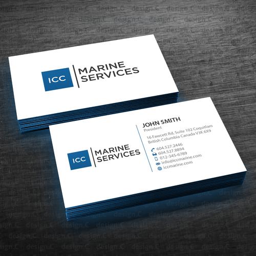 Icc marine business cards concurso carto de visita design finalista por designc reheart Images