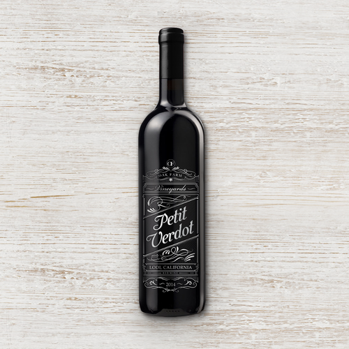 Design a new wine label for our new California red wine... Design by maxgraphic