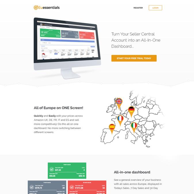 Diseño ganador de Web Alpha