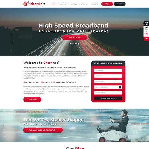 Web Page Design Service: Website For Fibernet Internet Service Provider (ISP)