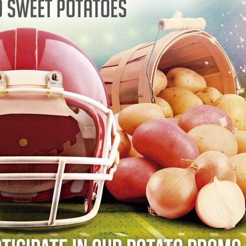 Design Promo Flyer that incorporates a football kickoff theme Diseño de Joabe Alves