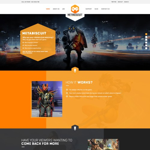 Runner-up design by WebPlanex