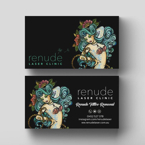 design business card for tattoo laser removal business