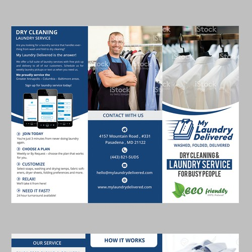 Brochure for Laundry & Dry Cleaning Service | Brochure contest