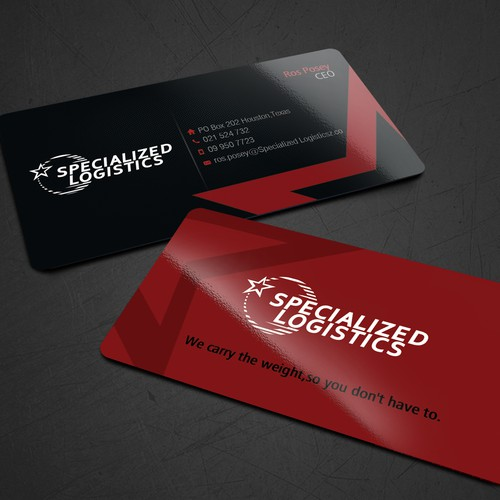 Business card for specialized logistics business card contest runner up design by jees colourmoves