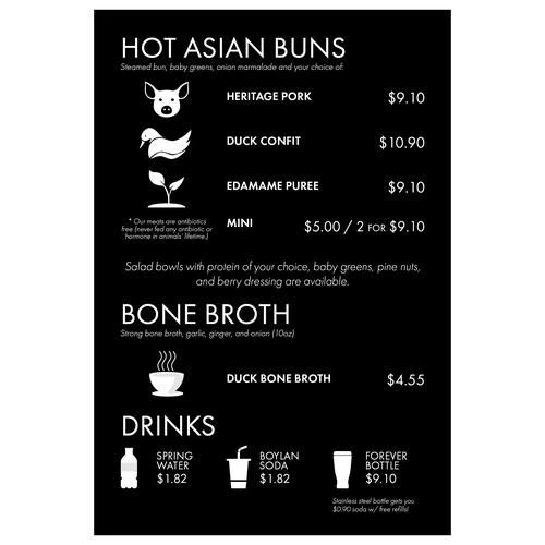 food truck menu board design menu contest