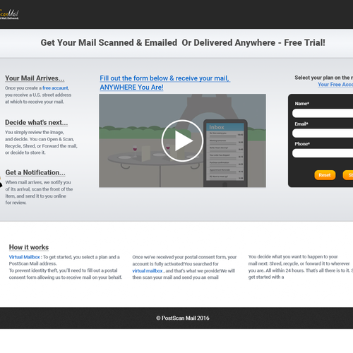 Create A landing Page Design based On Our Landing Page