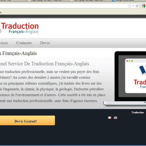 Traduction Francais Anglais Needs A New Logo Logo Design
