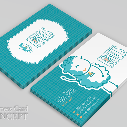 Create business card for luxury online baby boutique Design by FishingArtz