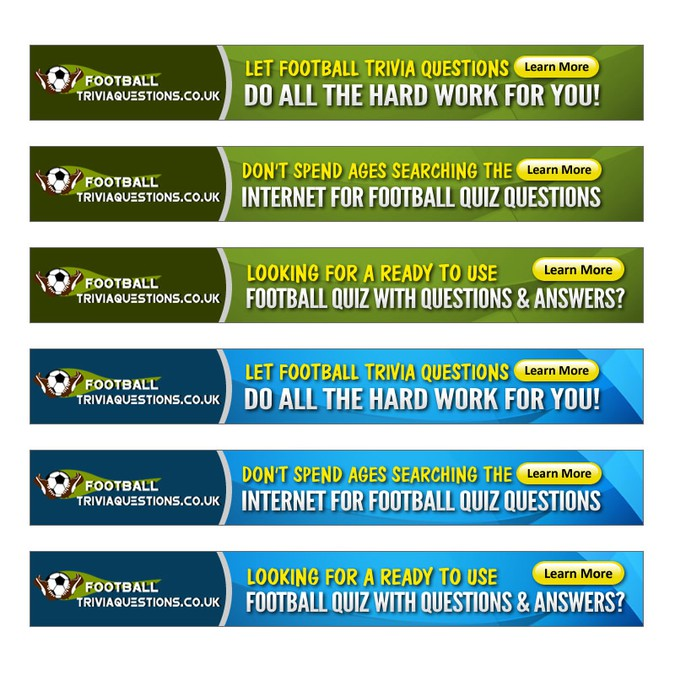 Help Football Trivia Questions With A New Banner Ad Banner Ad Contest