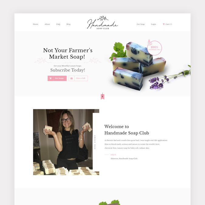 Soap Business Needs A Modern and Luxurious Website | Web