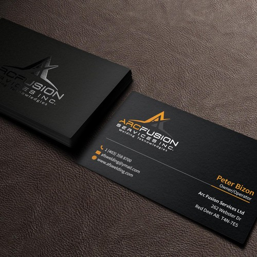 Business card for afs welding business card contest runner up design by ak graphics reheart Gallery