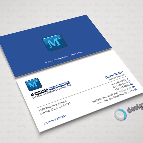 Business card design for underground construction company runner up design by designc colourmoves
