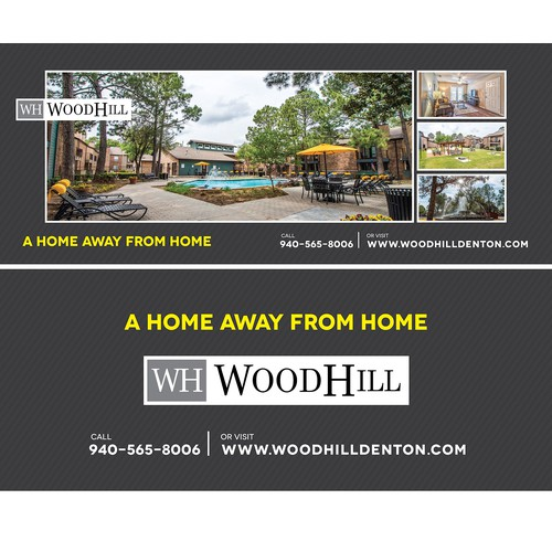 Woodhill Apartments Billboard Design
