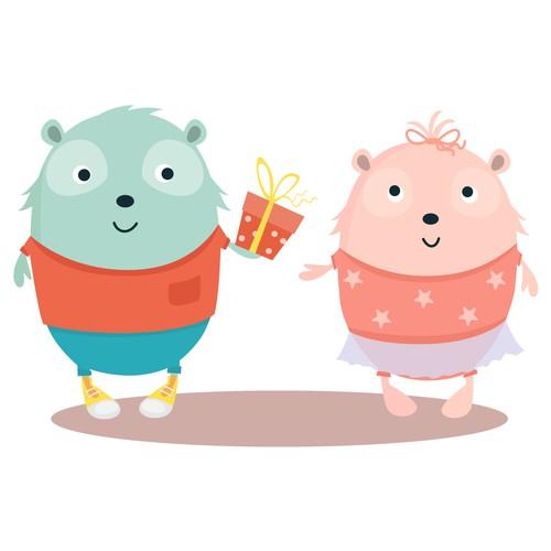 Cartoon/Mascot character for children TV Design by Natalia Lavrinenko