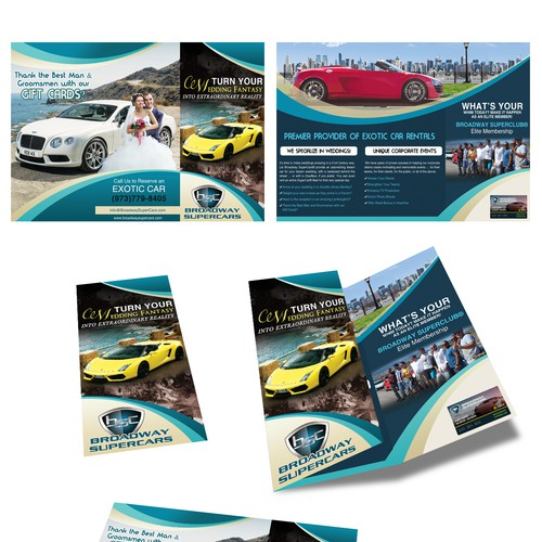 Cutting Edge Leaflet to promote Exotic Cars for Weddings Design by Jasmin_VA
