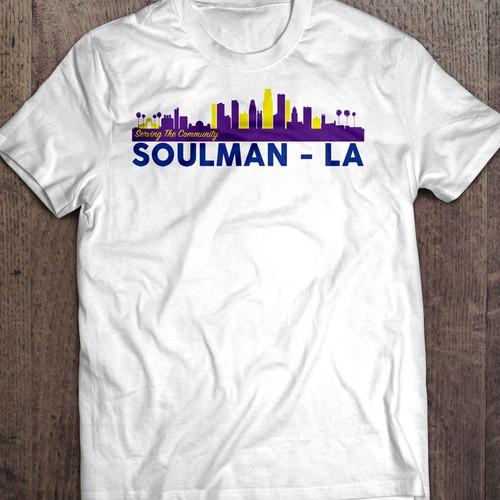 Design for soulman la community service men t shirt for T shirt design service