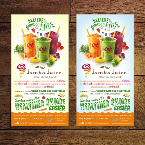 Create an ad for Jamba Juice Design by Julia S.