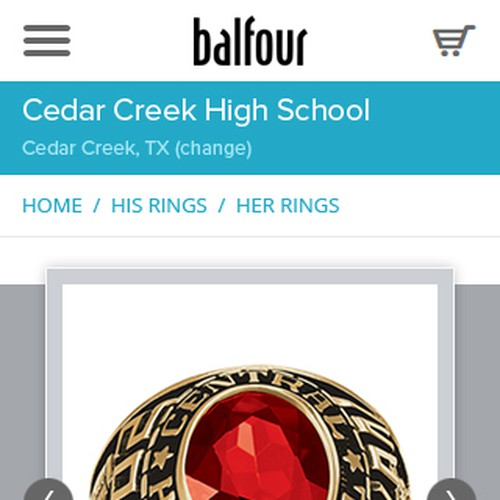 Class Ring Jewelry Mobile Configuration Other Web Or App Design