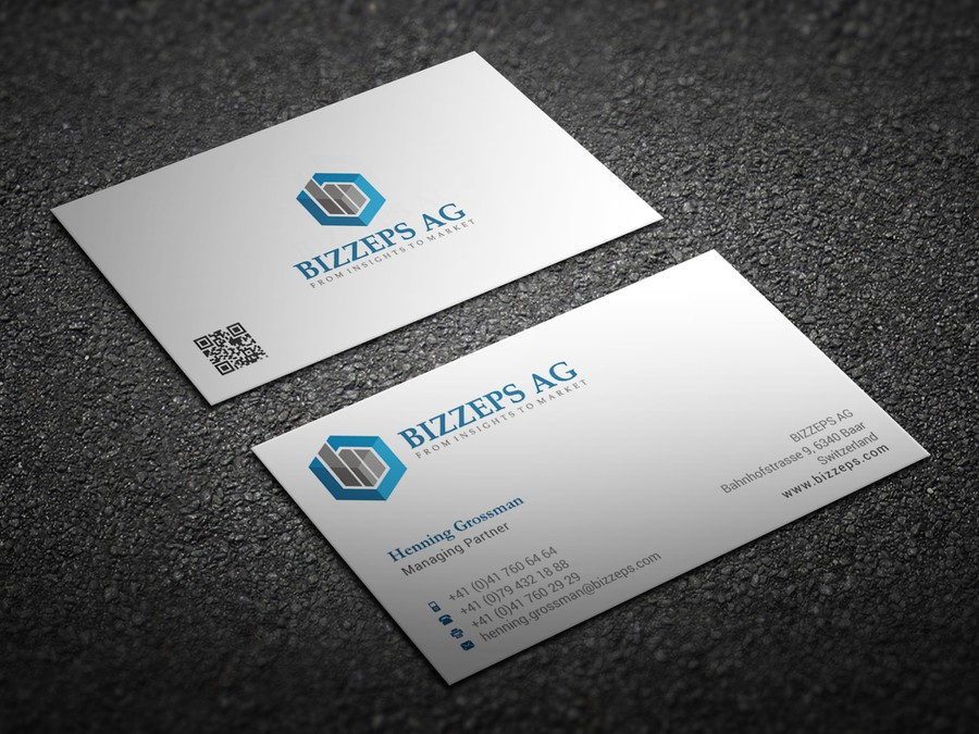bizzeps ag: new vcard design | Business card contest