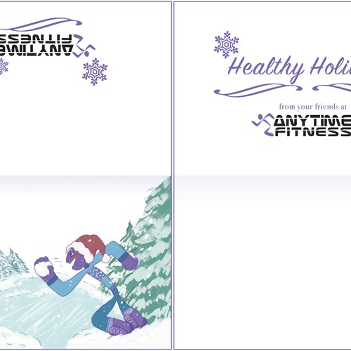 anytime fitness holiday card