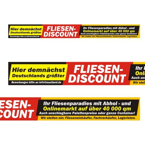 Xxl poster f r fliesen discount signage contest for Fliesen discount