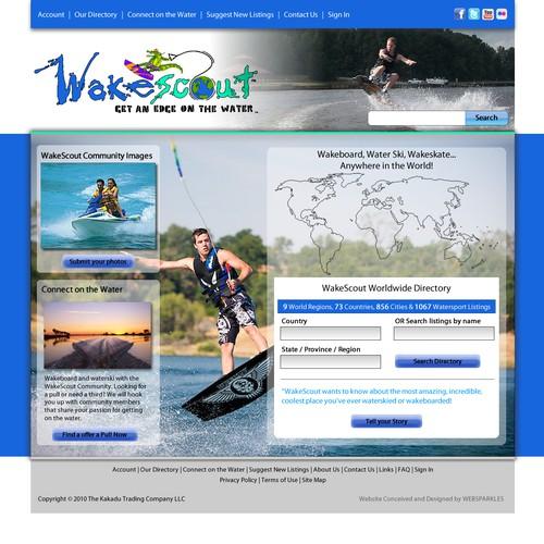 Diseño finalista de websparkles