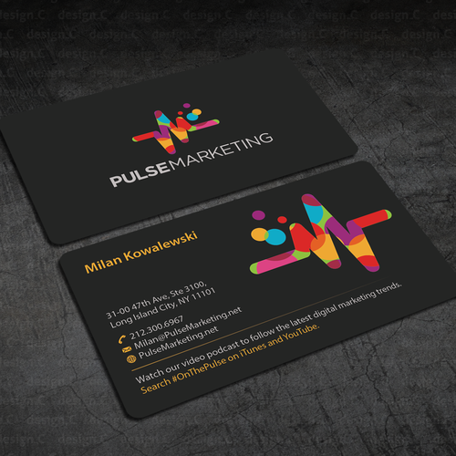 Create eye catching professional business card for digital entries from this contest colourmoves