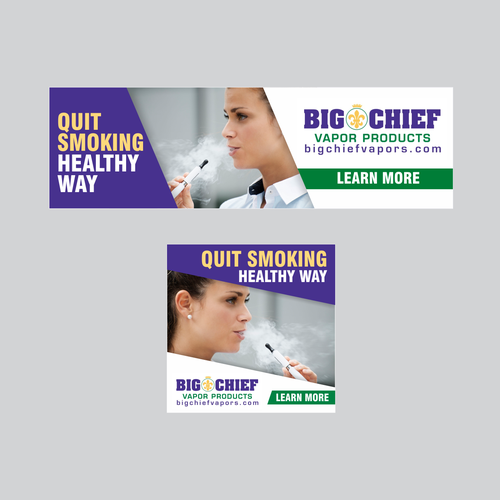 Big Chief Vapors - Taste your Juice banner ad | Banner ad