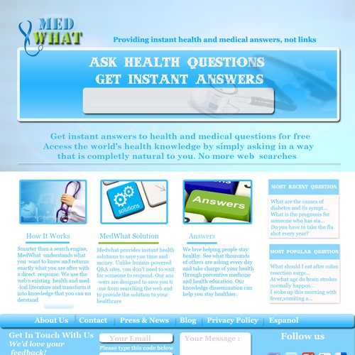 New website design wanted for MedWhat com, INC  | Web page