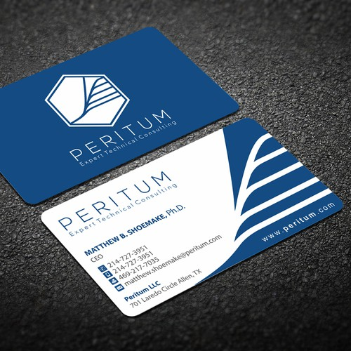Peritum business cards business card contest runner up design by dipenshah reheart Gallery