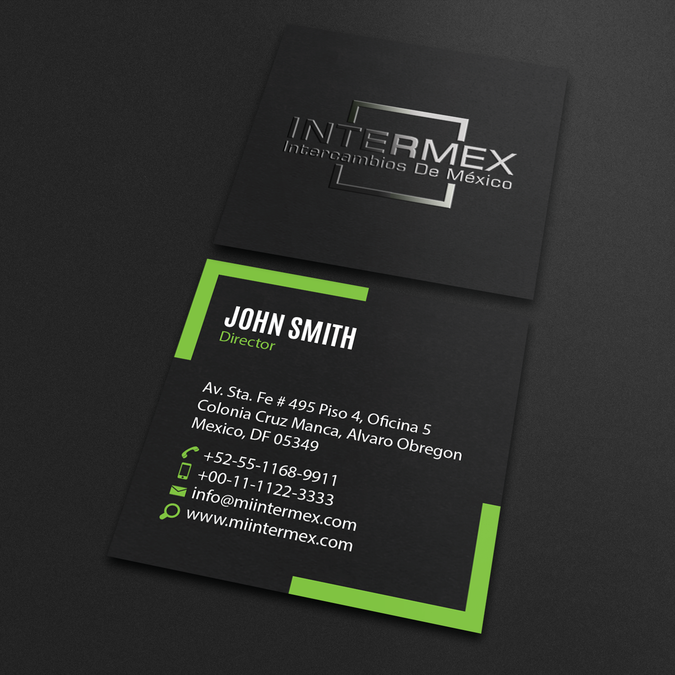 Badass Business Card Design for New Fintech Company