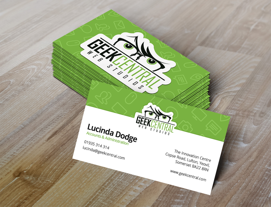 We Ve Got The Logo Now Design Some Uber Cool Business Cards