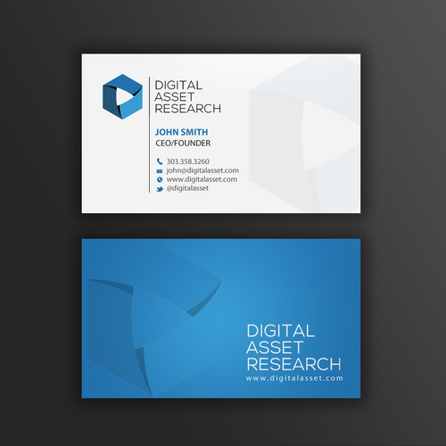Design a professional business card for crypto currency research runner up design by mr minimalist colourmoves