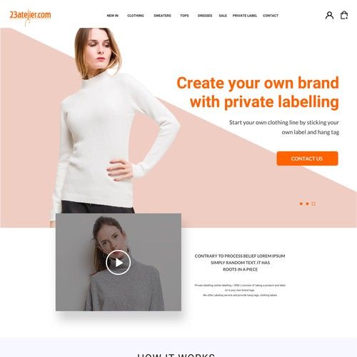 Design A Landing Page For Fashion Clothes Company Landing Page Design Contest 99designs