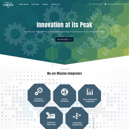 Runner-up design by mkswebtech