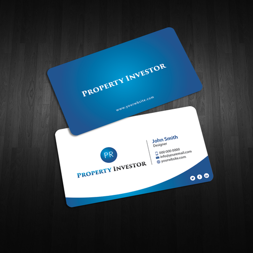 Business Card Design For Property Investor Business Card Contest