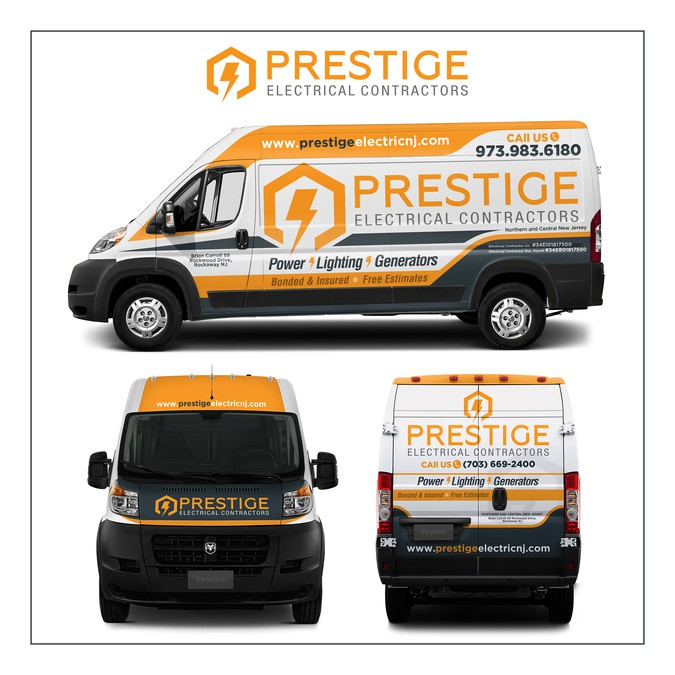 Car Wrap Needed For Prestige Electrical Contractors
