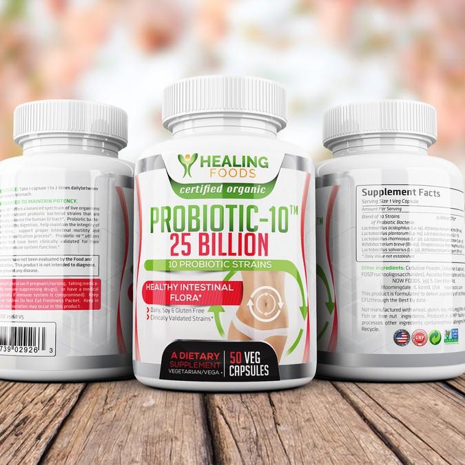 Design Probiotics Bottle   Product label contest